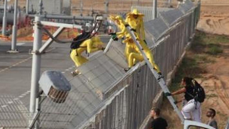 פעילי גרינפיס חדרו למתקן קבלת הגז באשדוד של נובל אנרג'י