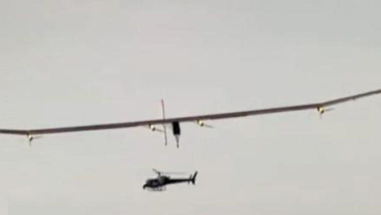 מטוס סולארי מאויש ראשון המריא לטיסת מבחן בשוויץ