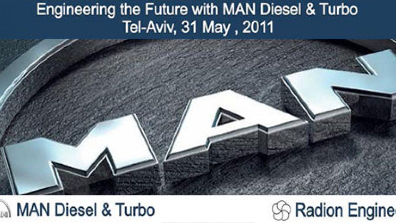 """הזמנה: סמינר MAN Diesel & Turbo 2011 – מגדלי עזריאלי ת""""א. 31.5.11"""
